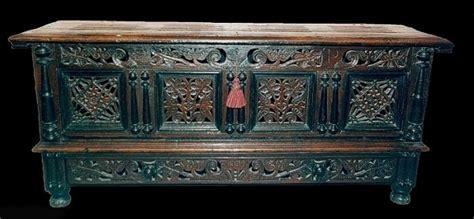 Handmade American Furniture - handmade joined oak chest split turnings early
