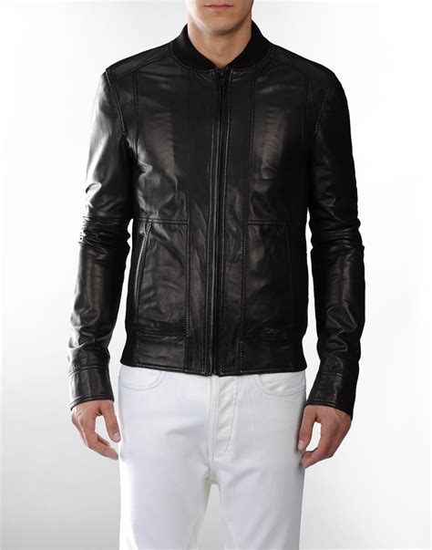 mens leather jacket d g s black leather jacket s fashion