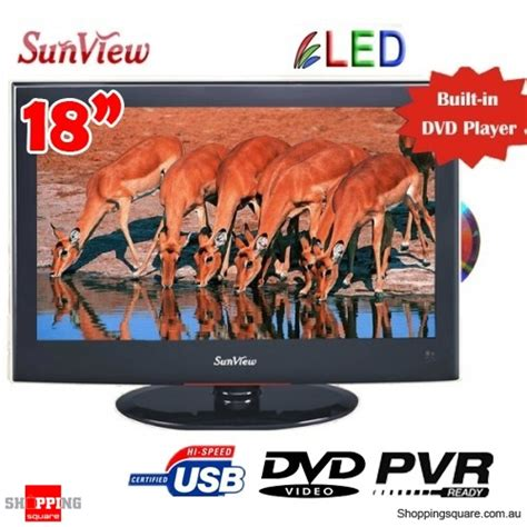 sunview 18 5 inches 47cm led lcd tv built in pvr dvd player hd tuner usb support car 12v
