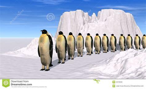 www march on line marche de pingouins illustration stock illustration du