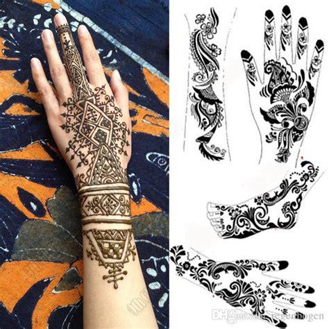 tattoo gloves online india 2pcs mehndi henna tattoo schablone viele gro 223 e schwarze