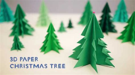 3d paper christmas tree youtube