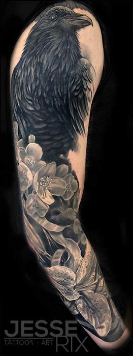 jesse rix crow sleeve cute tattoos pinterest