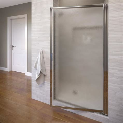 34 Shower Door by Shop Basco 33 125 In To 34 875 In Framed Pivot Shower Door At Lowes