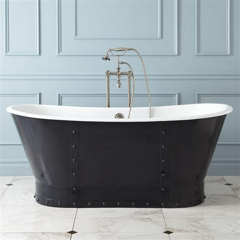 67 quot brayden bateau cast iron skirted tub bathroom
