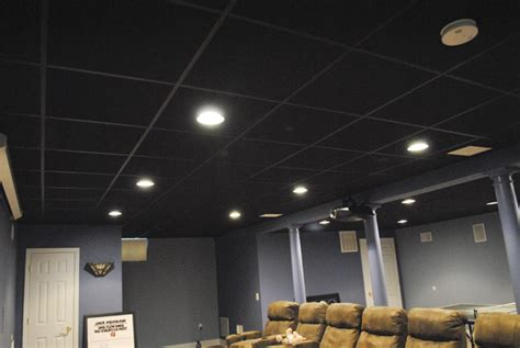 Basement Ceiling Black by Basement Ceiling Black 171 Ceiling Systems