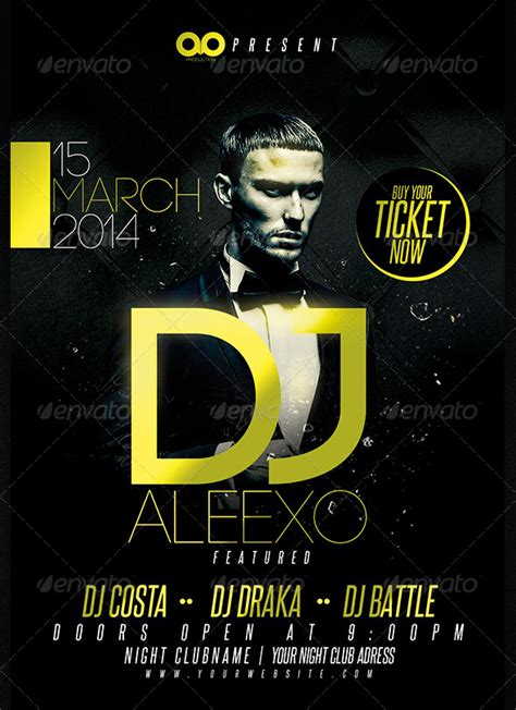 dj event poster templates free guest dj club and flyer template ad
