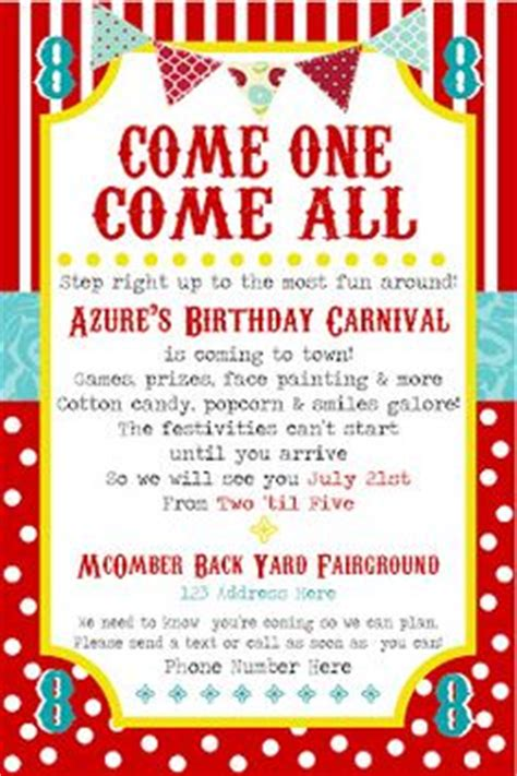 carnival themes and slogans masons 4th bday party on pinterest train party trains