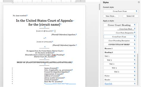 online word guide for formatting appellate briefs iit