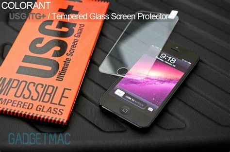 Colorant Iphone 5 Usg Clear 1 colorant usg impossible tempered glass plus for iphone 5 review gadgetmac