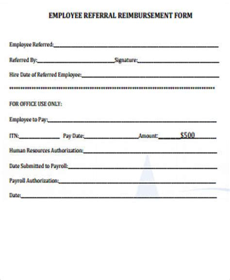 sle employee referral form 10 exles in word pdf