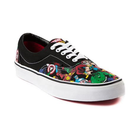 design vans com vans era avengers skate shoe black white journeys shoes