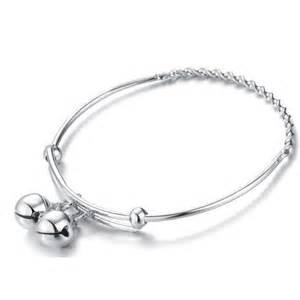 Gold Baby Bracelets With Name 925 Sterling Silver Children S Jingle Bells Bangle Bracelet Katgi Com