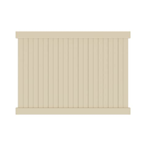 3ft x 8ft chelsea spaced picket vinyl fence panel 28