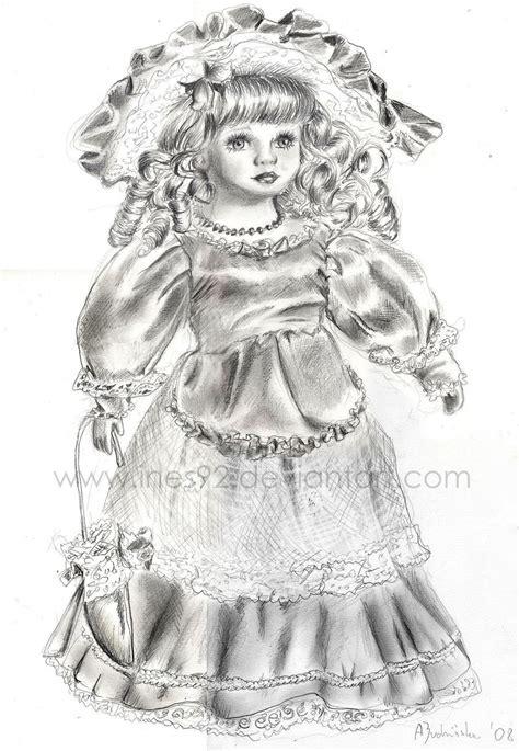 porcelain doll drawing porcelain doll by ines92 on deviantart