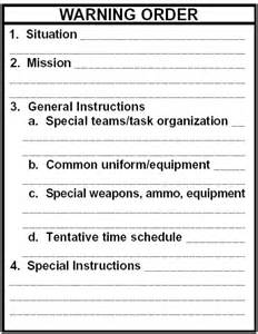 warning order template army warning order template blank pictures to pin on