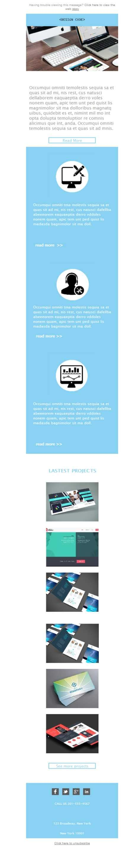 free newsletter template website digital marketing
