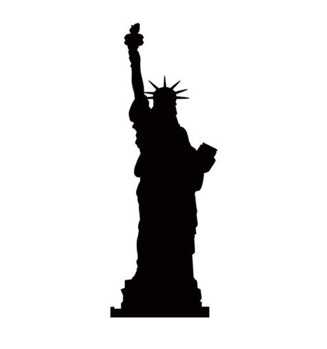 Life-size Statue Of Liberty Silhouette Cardboard Standup ... Elvis Clipart Graphics Free