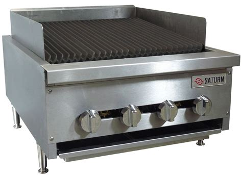 Commercial Kitchen Broiler by Saturn Equipment Scb24 Hd 24 Inch Gas Charbroiler S