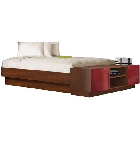 king size platform storage bed king size platform bed with storage footboard contempo space