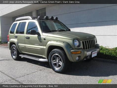 2003 Jeep Renegade Cactus Green Pearl 2003 Jeep Liberty Renegade 4x4