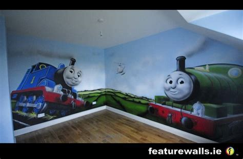 painting tank engine murals childrens rooms decorating rooms