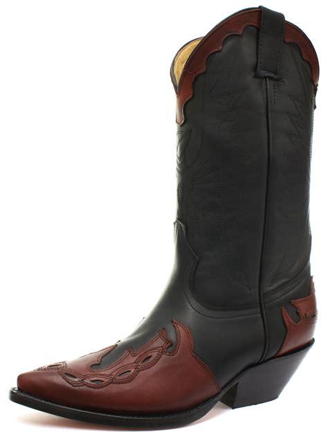 arizona boots new grinders arizona black burgundy mens cowboy boots all