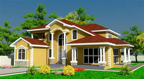 One Story House Plan by Ghana House Plans Naanorley Plan Building Plans Online