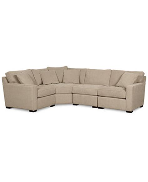 radley sectional radley fabric 4 piece sectional sofa furniture macy s