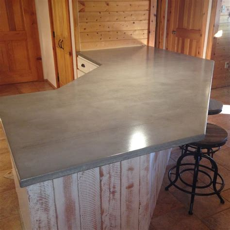 Log Countertops by Log Cabin Grey Concrete Countertops White Cabinets