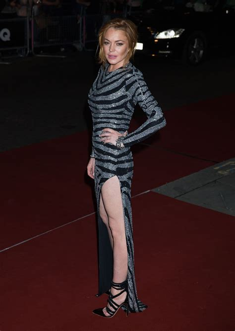 Lindsay In Gq by Lindsay Lohan At Gq Of The Year Awards 2014 Celebzz