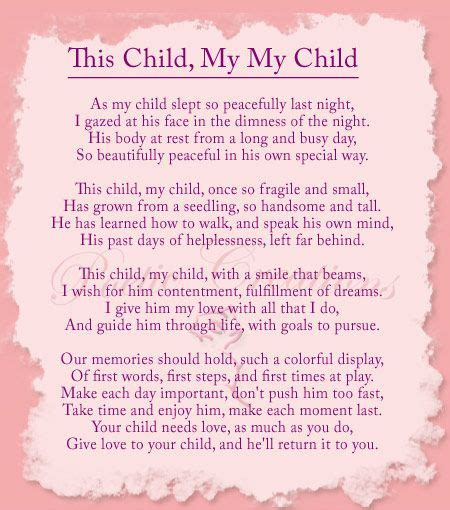 poem for child inspirational poems about home about personalized