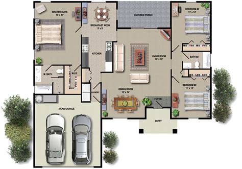 new single floor house plans floor plans
