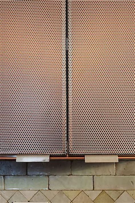 copper perforated metal and metal screen on