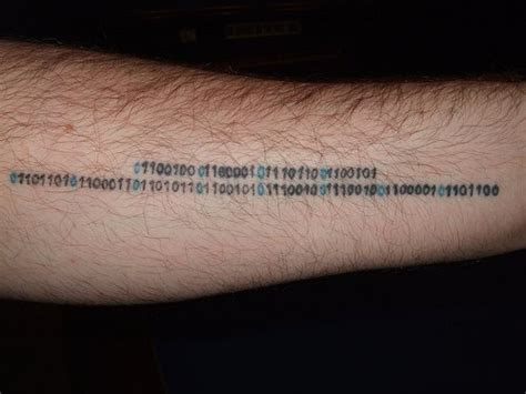 binary code tattoo binary code arm tattooimages biz