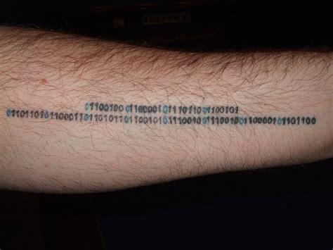 binary tattoo binary code arm tattooimages biz
