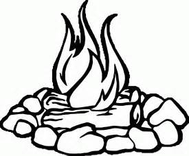 campfire coloring page az coloring pages