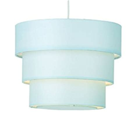 anya 3 tier pendant l shade fabric duck egg blue