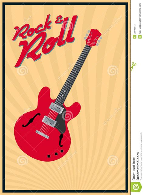 imagenes retro guitarra rock and roll fotos de archivo imagen 29993113