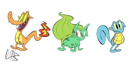 doodle starters generation 1 starters by cosmic doodle on deviantart