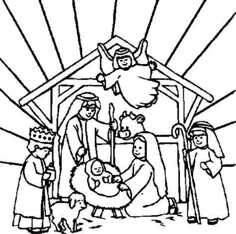 free coloring page of the nativity printable nativity coloring pages coloring home