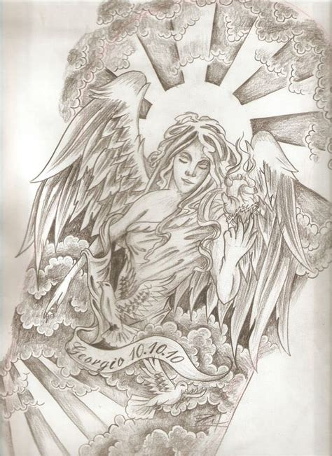 angel tattoo half sleeve designs potential angel tattoo for half sleeve tatto pinterest