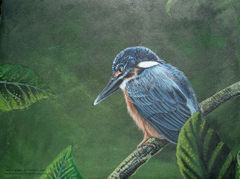 acrylic painting kingfisher acrylic painting kingfisher ii by x diego on deviantart