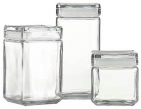 Designer Kitchen Storage Jars Stackable Glass Storage Jars Modern Kitchen Canisters And Jars By Crate Barrel