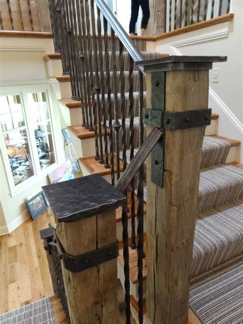 Modern Banister Styles Best 25 Rustic Stairs Ideas On Pinterest