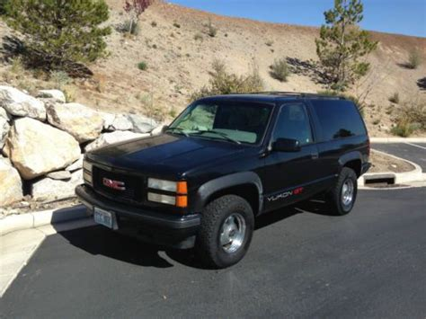 car manuals free online 1997 gmc yukon transmission control purchase used 1995 black gmc yukon gt 94 100 original miles 4x4 automatic transmission in reno