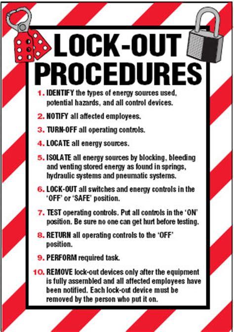 arc flash lockout labels lock out procedures