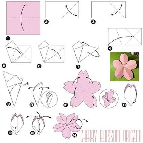 tutorial origami sakura how to make cherry blossom origami cherryblossom sakura