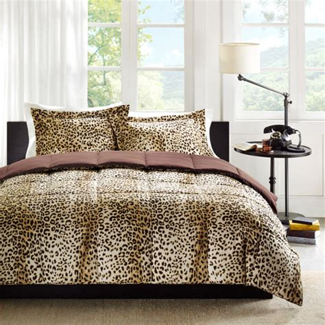 Home Essence Cheetah Bed Comforter Set Walmart Com Cheetah Print Bedding