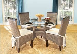 rattan dining room furniture abaco 5 pc dining room dining room sets